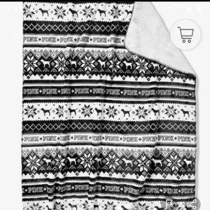 "Victoria's Secret PINK Sherpa Blanket 50""x60"" NWT"